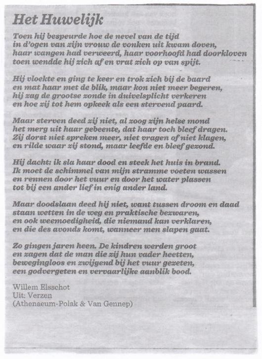 Willem Elsschot Het Huwelijk Blue Heaven Loft